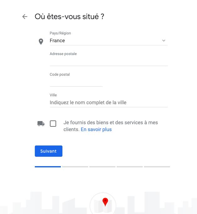 google my business étape 2