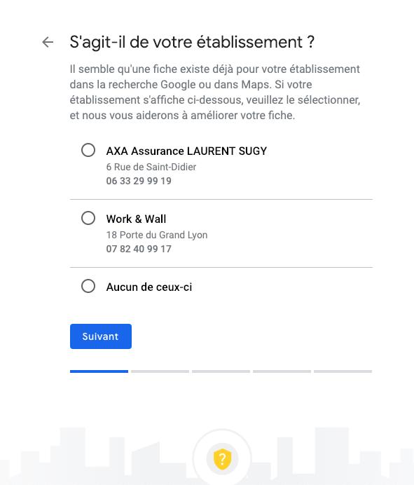 google my business étape 3