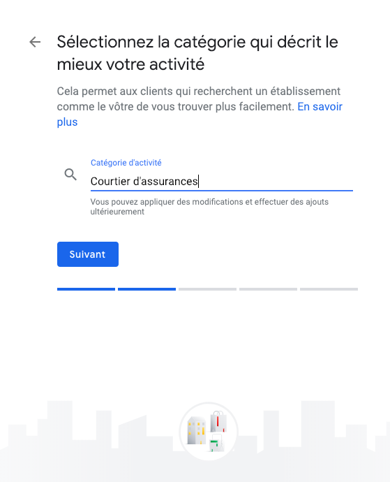 google my business étape 5
